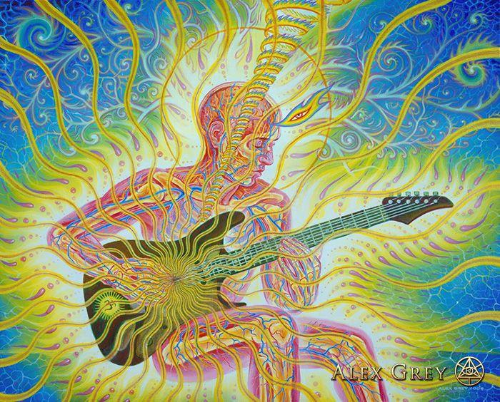 Bond Alex Gray Art Art Psychedelic Art