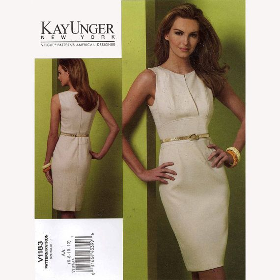 Vogue 1183 Kay Unger New York Cocktail Dress Sewing Pattern Size 6