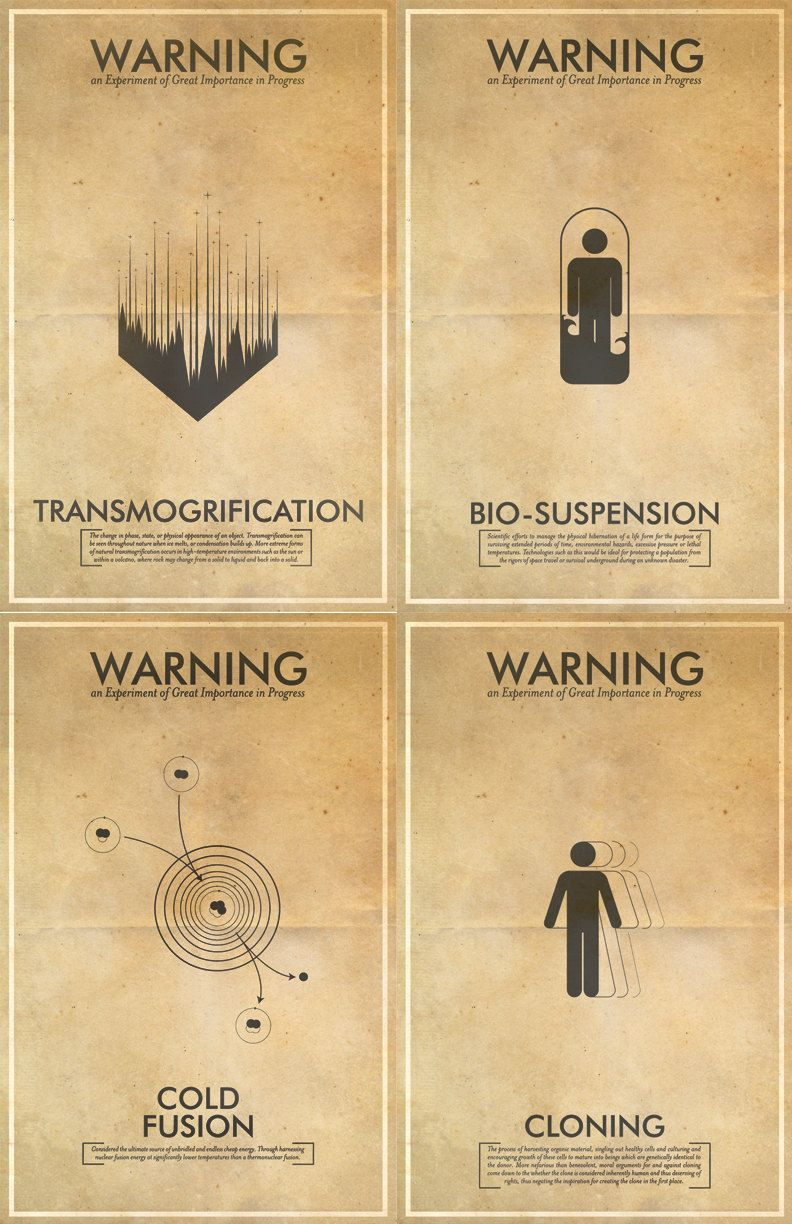 11x17 poster design - Any 5 Fringe Science Fiction Inspired Iconography Poster Series 11x17 Vintage Warning Posters 87 50