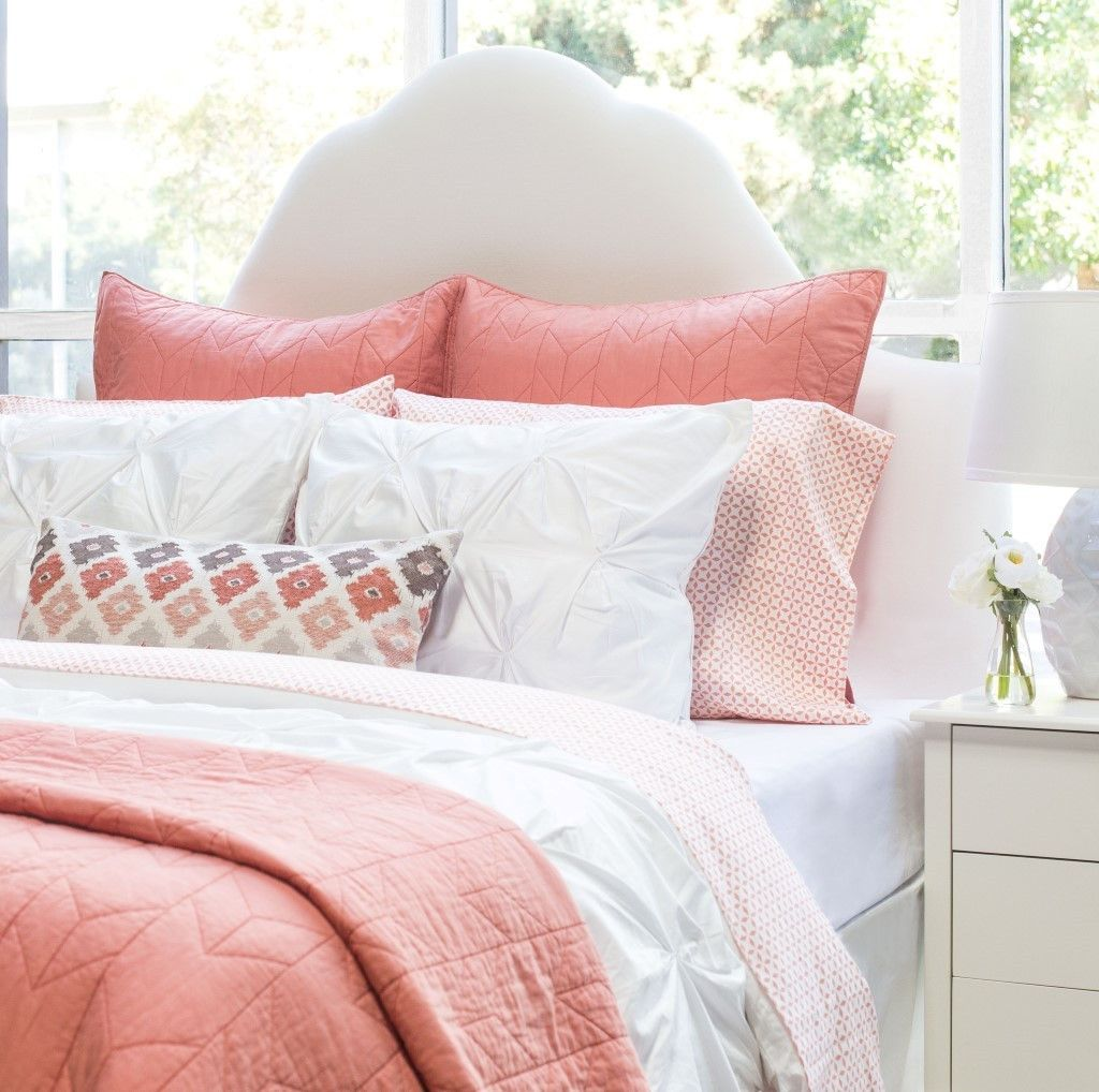 Perfect Bedroom Inspiration And Bedding Decor | The Coral Morning Glory Sheet Sets  | Crane And Canopy