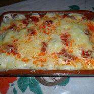 Coliflor gratinada con salsa bechamel y sobrasada