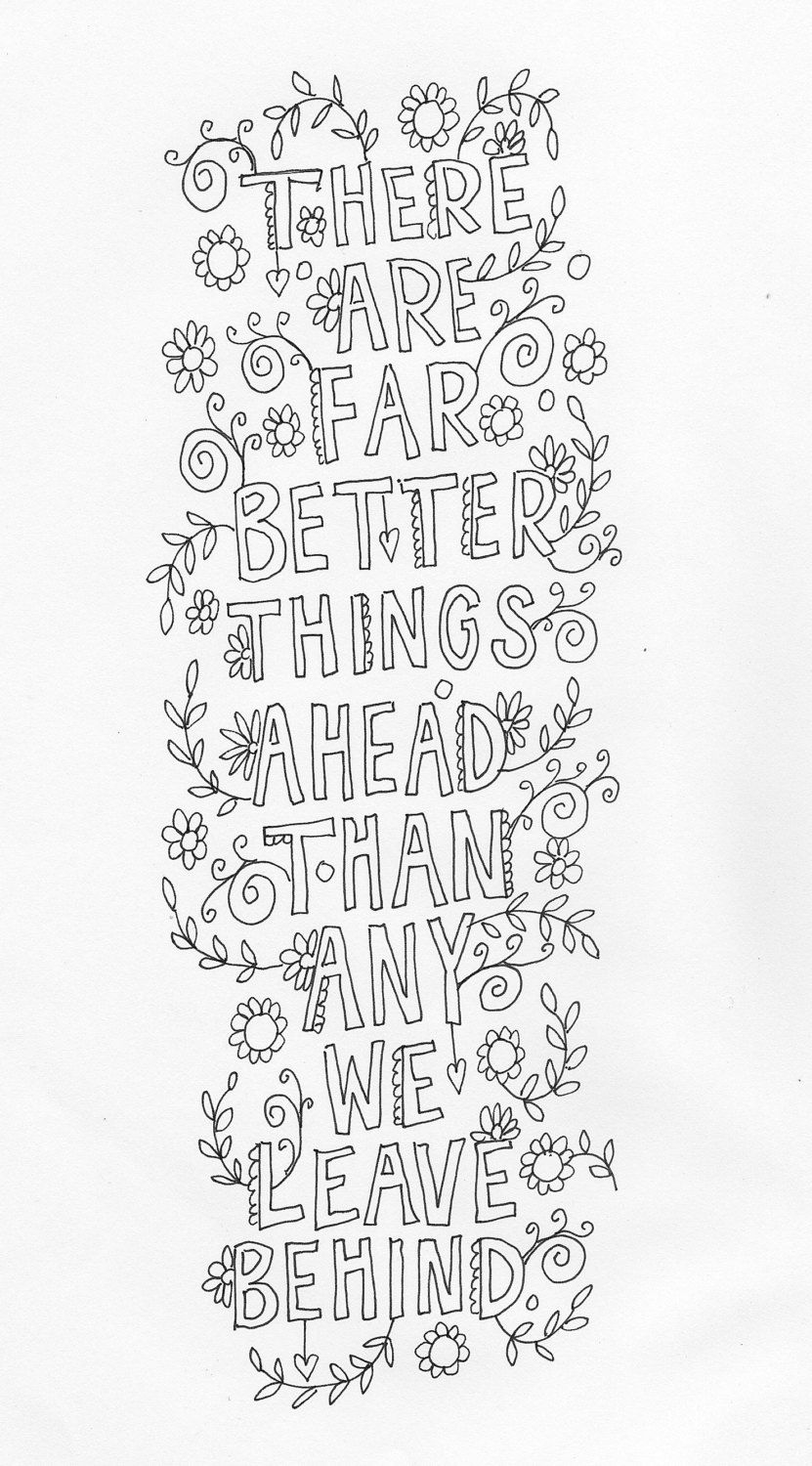 Line Art Etsy : Quote coloring page instant download line art