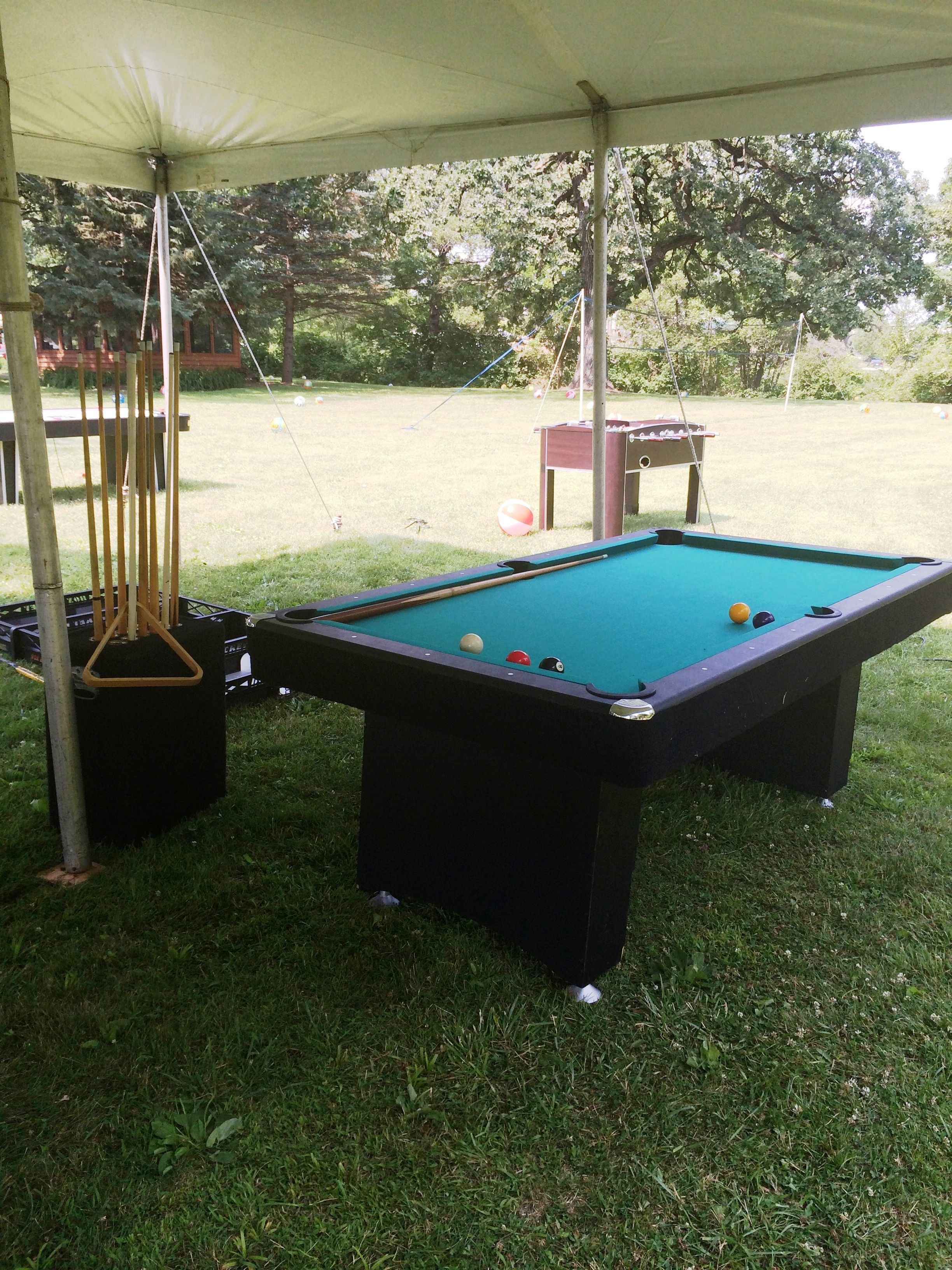 Indoor Or Outdoor Pool Tables Chicago Party Rentals Creative - Outdoor pool table rental