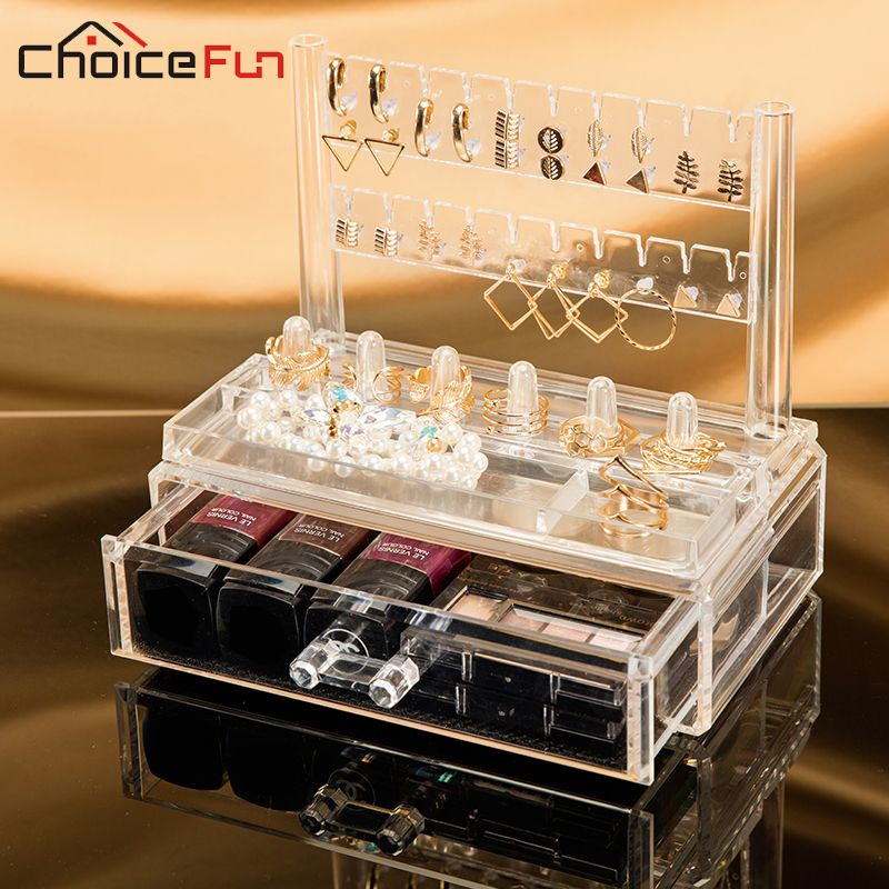 CHOICE FUN Plastic Make Up Organizer Acrylic Makeup Organizer