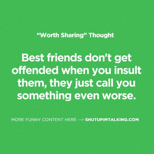 Best Friend Call Quotes: Best Friends Don't Get Offended When You Insult Them, They