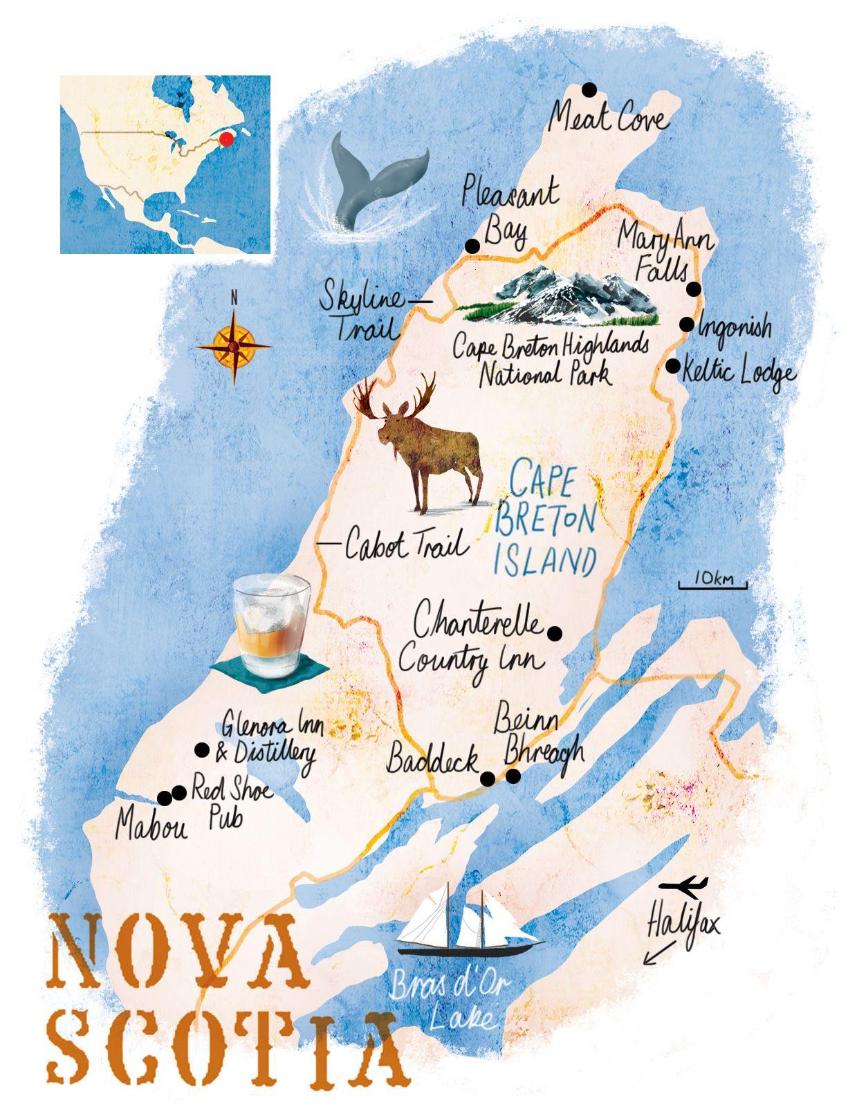 nova scotia map scott jessop nova scotia in 2018 pinterest