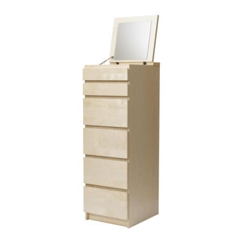 Ikea Malm Beuken Ladekast.Malm 6 Drawer Chest Ikea Built In Mirror For Storing Anything From