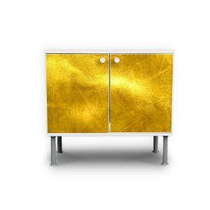 Waschbeckenunterschrank Badschrank Waschtisch Unterschrank Gold