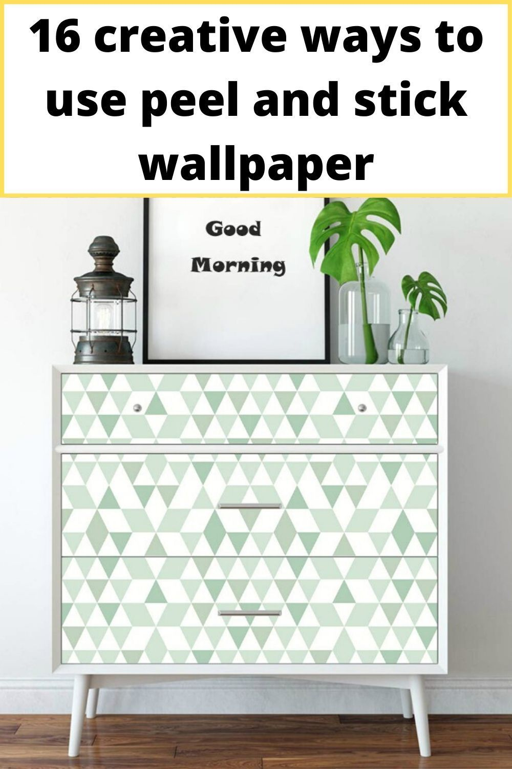 16 Creative Ways To Use Peel And Stick Wallpaper Living In A Shoebox Peel And Stick Wallpaper Wallpaper Furniture Removable Wallpaper