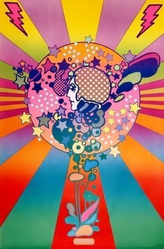 BIG-1960s-60s-PETER-MAX-MOD-Hippy-PSYCHEDELIC-POSTER ...  Peter Max 60s