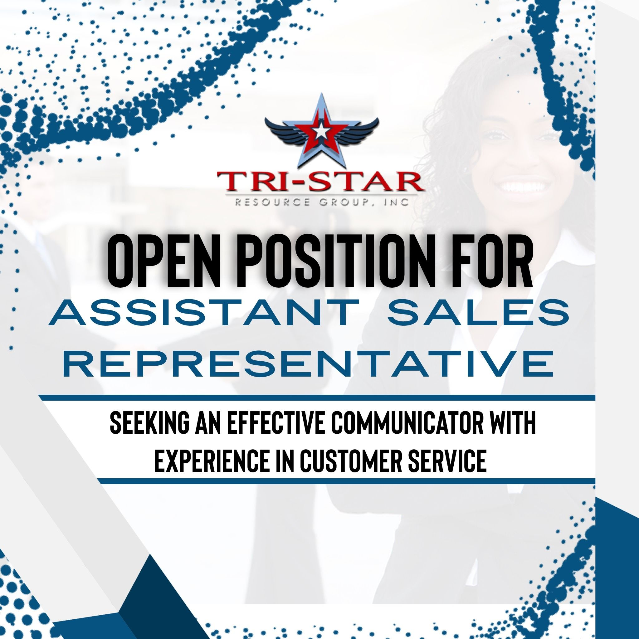 New job opening tristar resource group inc is seeking