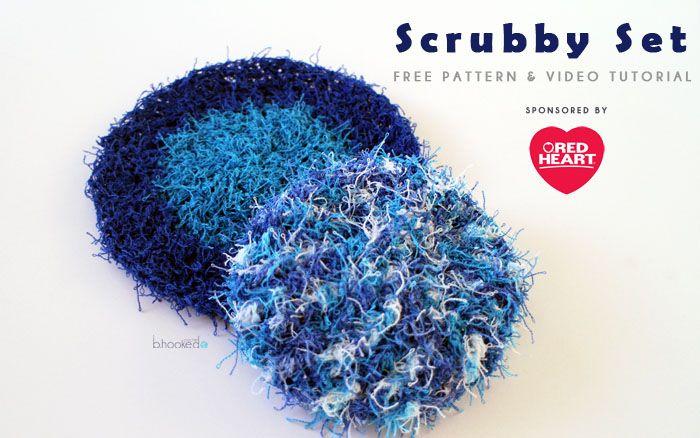 Crochet Scrubby Set - Free Pattern & Tutorial | Topflappen und Häkeln
