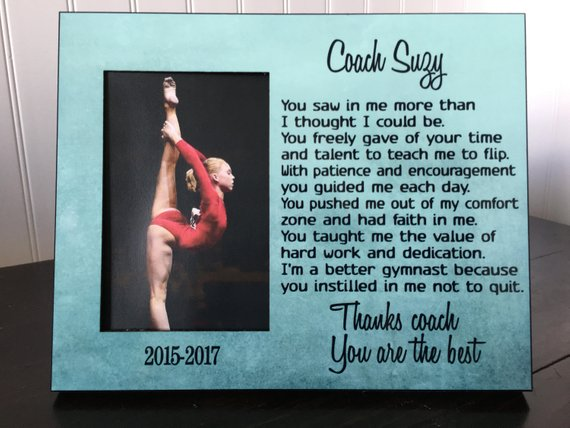 Gymnastics Coach Picture Frame Gift Cheer Coach Gift End Of Season Thank You Gift For Coach Coach Picture Frame Framed Gifts Gymnastics Coaching
