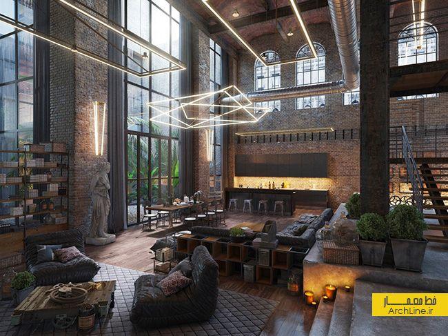 fantasy living room design | Loft design, Loft interiors ...