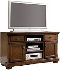 Ashley Porter Large Tv Stand 32 With A Rich Rustic Beauty