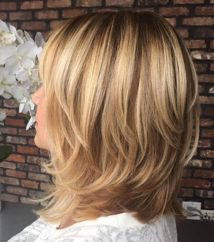 Shoulder Length Layered Hairstyles 70 Brightest Medium Layered Haircuts To Light You Up  Brown Blonde