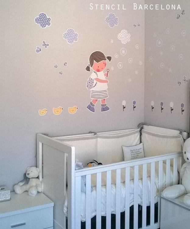 Habitaciones infantiles decoradas con un vinilo de stencilbarcelona vinilos infantiles de - Habitaciones infantiles barcelona ...