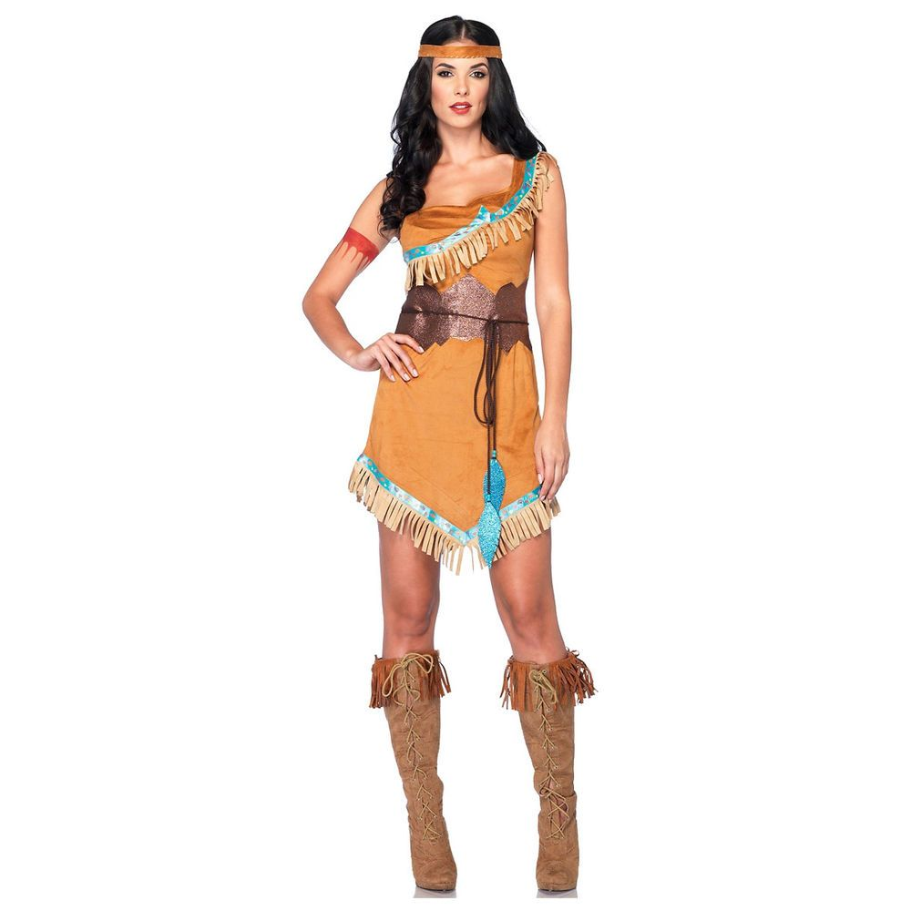 ADULT FEMALE HIPPY INDIAN MOCCASINS FANCY DRESS ACCESSORY