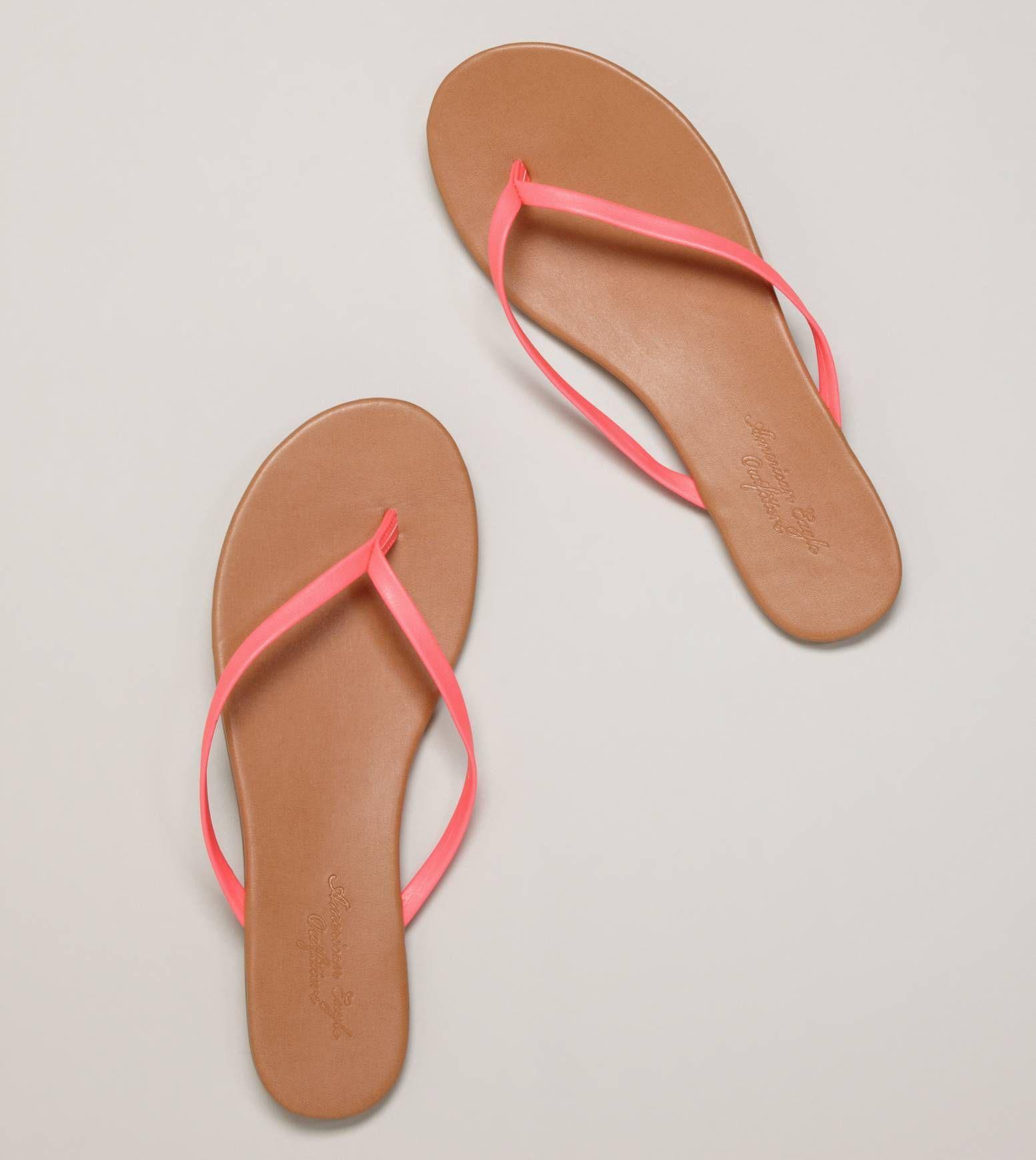 Aeo Skinny Flip Flop Light Neon Pink Style Pink Summer