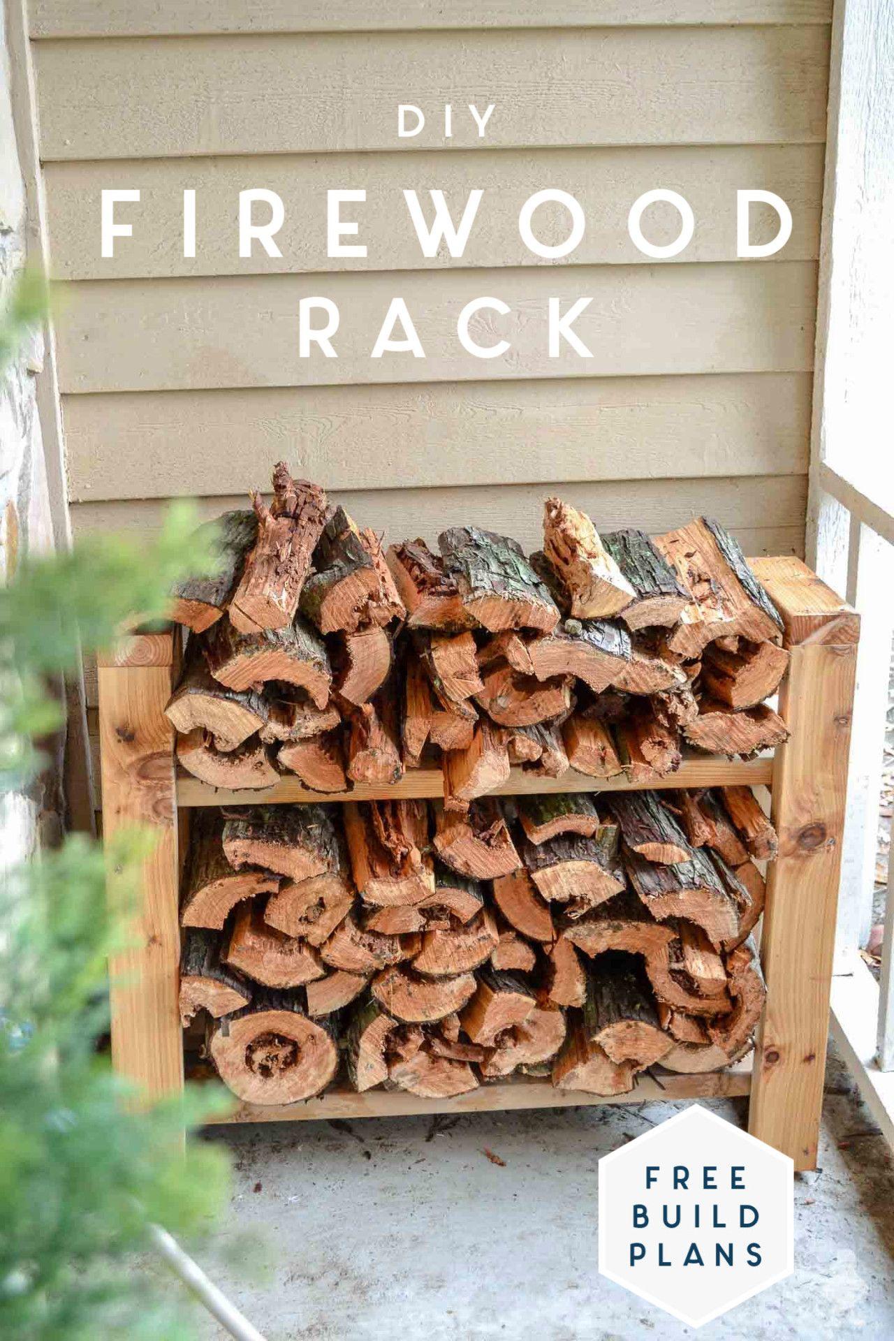 Diy Small Firewood Rack Firewood Rack Easy Build Firewood