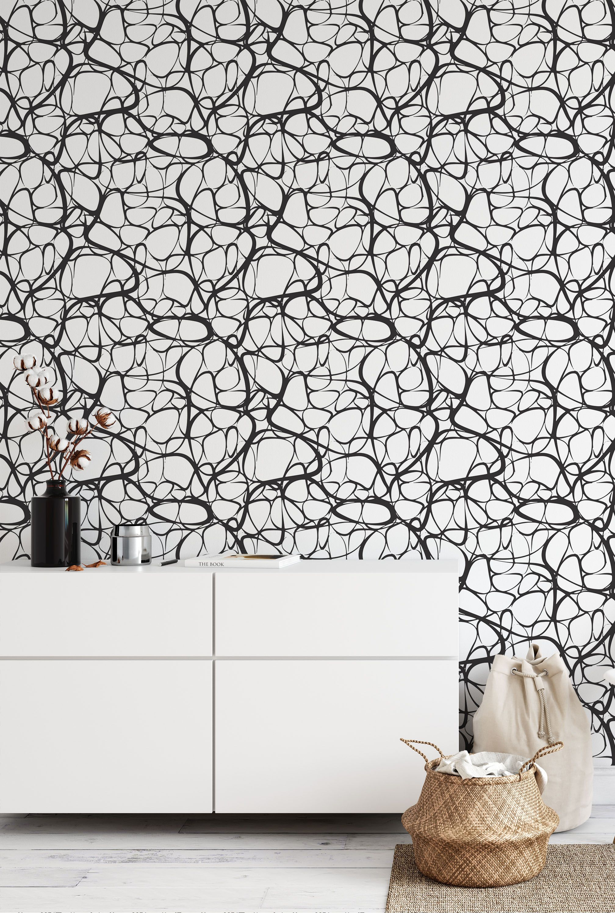 Removable Wallpaper Peel And Stick Wallpaper Wall Paper Wall Mural Abstract Wallpaper B095 Scandinavian Wallpaper Lines Wallpaper Wall Wallpaper