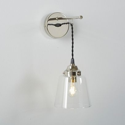 Tapered Gl Wall Light Home