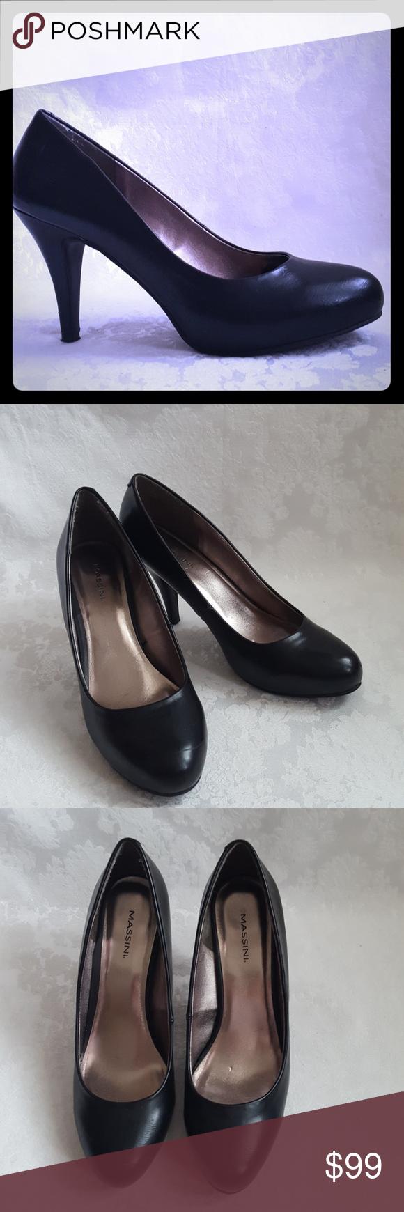 971574fcad4b Massini Black Platform High Heels