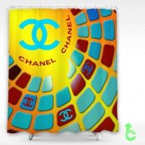 Chanel square color abstract Shower Curtain