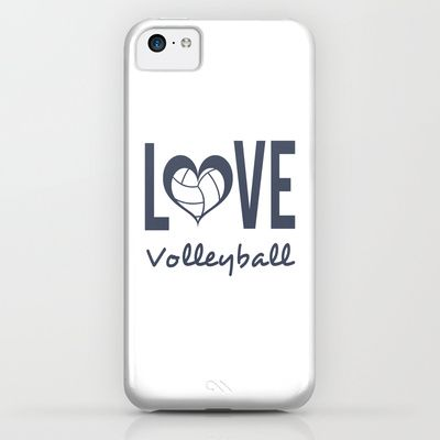Love Heart Volleyball Blue Iphone Ipod Case Volleyball Phone Cases Iphone Phone Cases Cell Phone Case Store