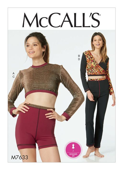 Activewear And Dancewear Sewing Pattern By Designer Joi For Mccalls