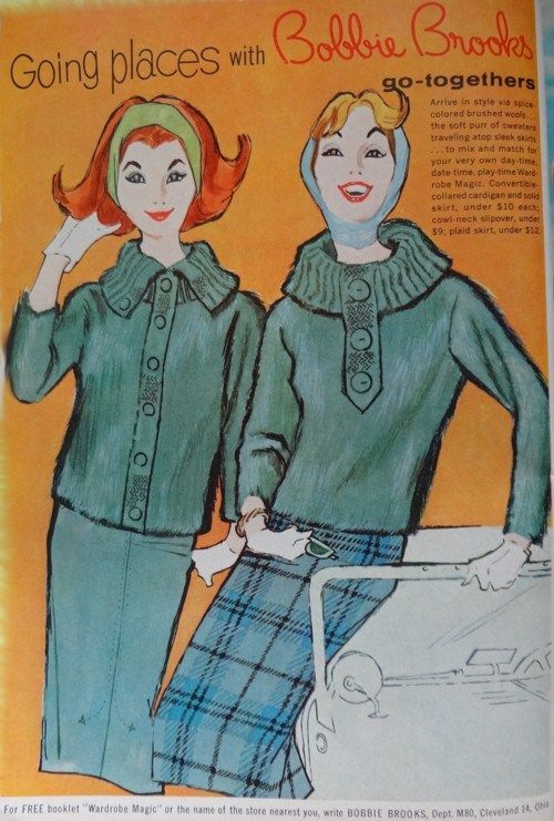 Ad Campaign – Bobbie Brooks, 1960 | The Vintage Traveler