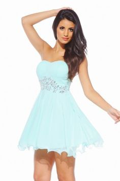 Aqua colored quince dresses for damas