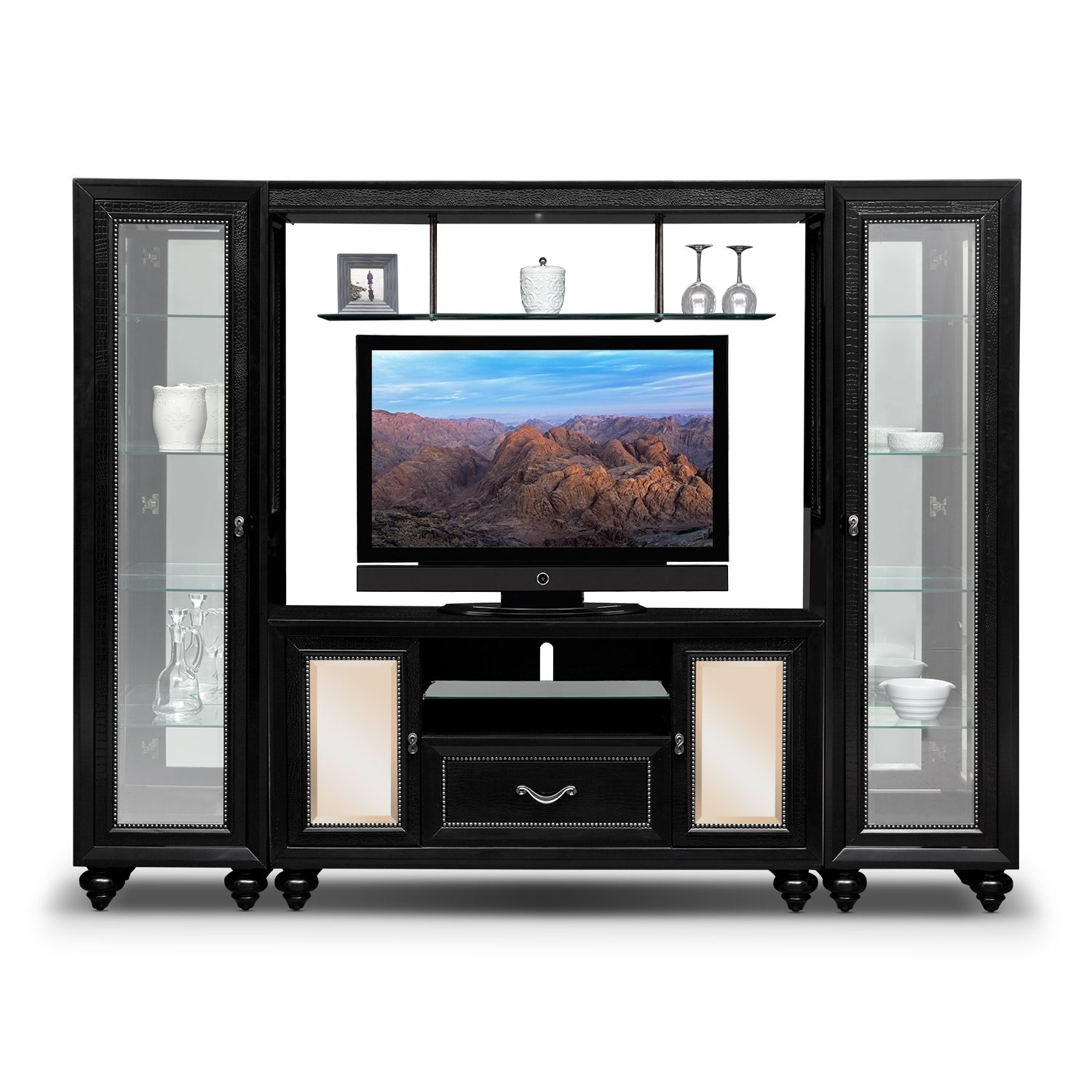 Paradiso 4 Pc. Entertainment Wall Unit | American Signature ...