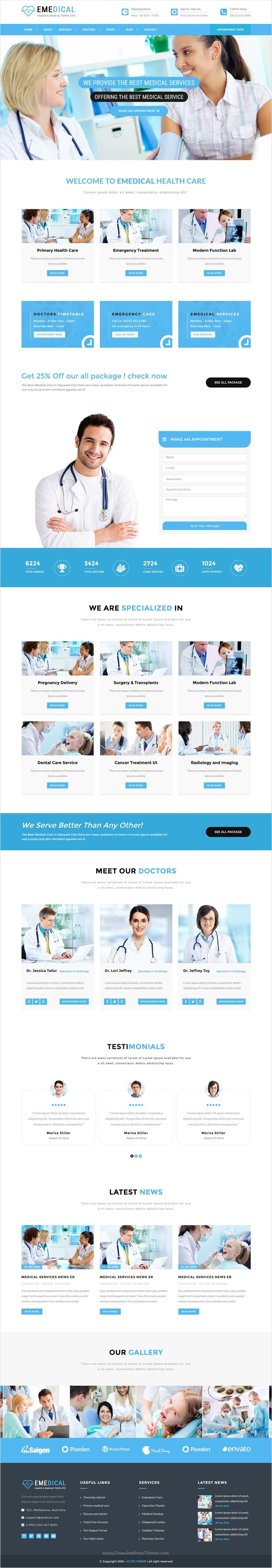 eMedical is a fully responsive 2 in 1 #Bootstrap HTML #template ...