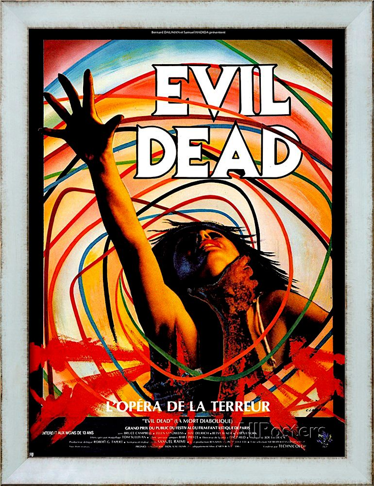 EVIL DEAD (GRAY BORDER) MOVIE POSTER Horror movie