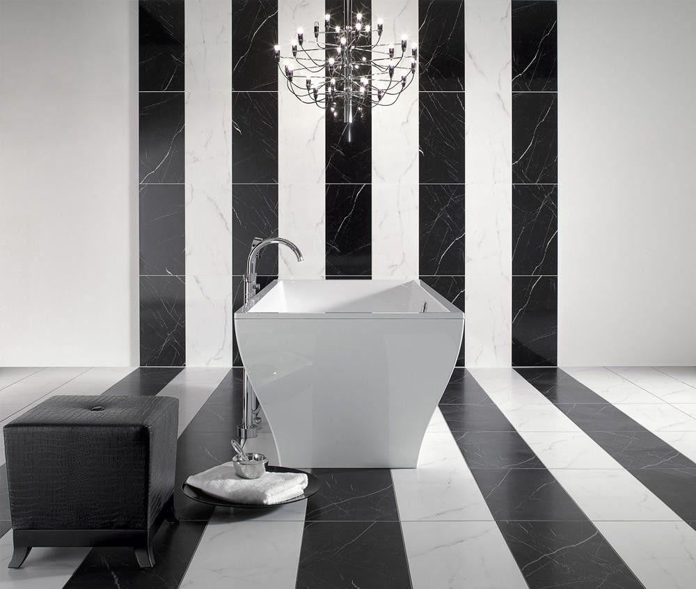 Kontrasty We Wnętrzach Biel I Czerń W łaziencekontrasty We
