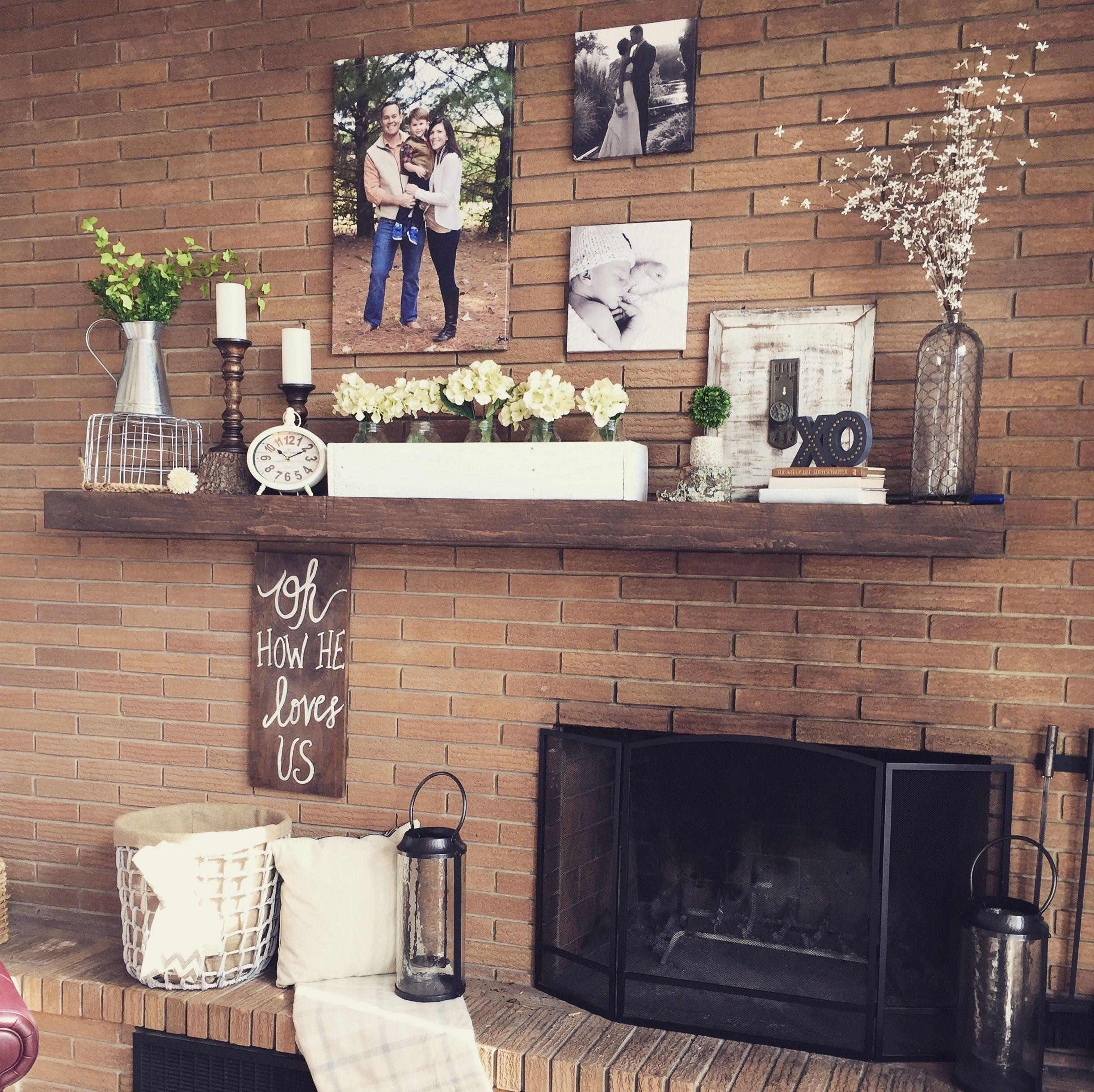 Decorating An Offset Fireplace Fireplace Makeover Fall Home Decor Fireplace