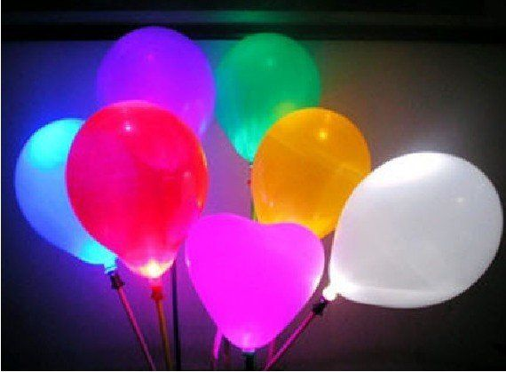 free shipping wholesale LED Balloon multi color Latex blinking