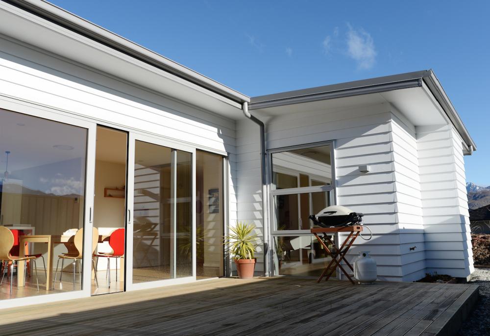 decking area bbq area home design white cladding home building ideas