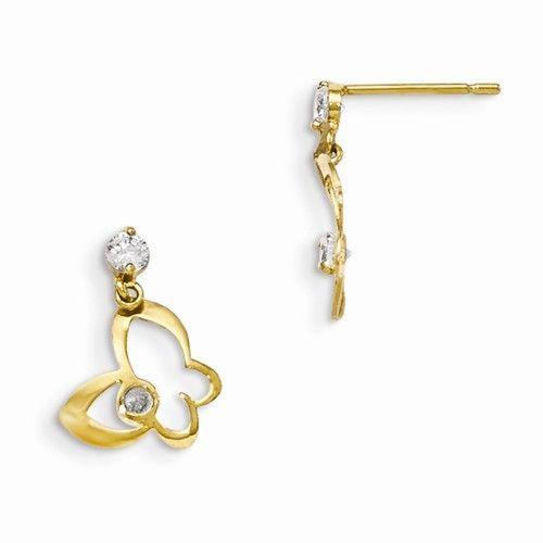 14k Madi K Butterfly Dangle Post Earrings