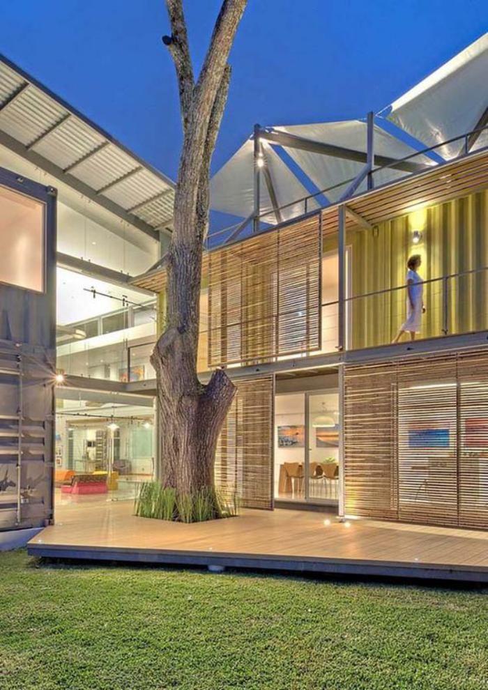 Construire sa maison container maisons modulaires de containers marins container homes - Construire sa maison en container ...