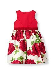 Rose Sateen Dress