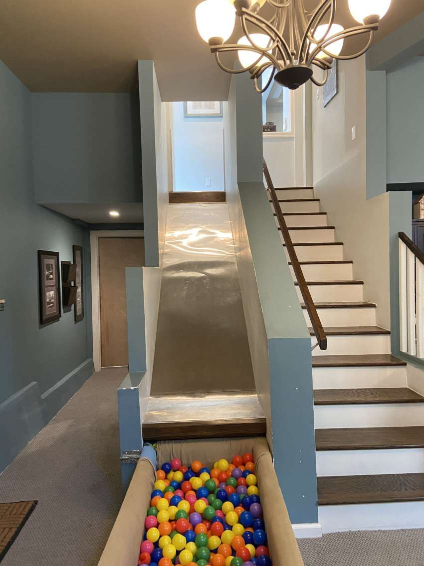 Photo of SF house with indoor slide and ball pit may be perfect quarantine pad