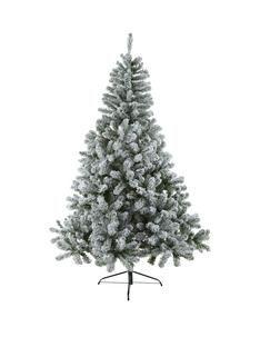 7ft-flocked-emperor-christmas-tree | CHRISTMAS TREES | Pinterest ...
