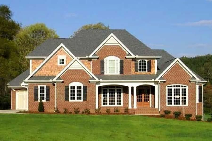House Plan 8594 00400 Traditional Plan 3 189 Square Feet 4 Bedrooms 3 5 Bathrooms Brick House Plans Traditional House Plan House Plans