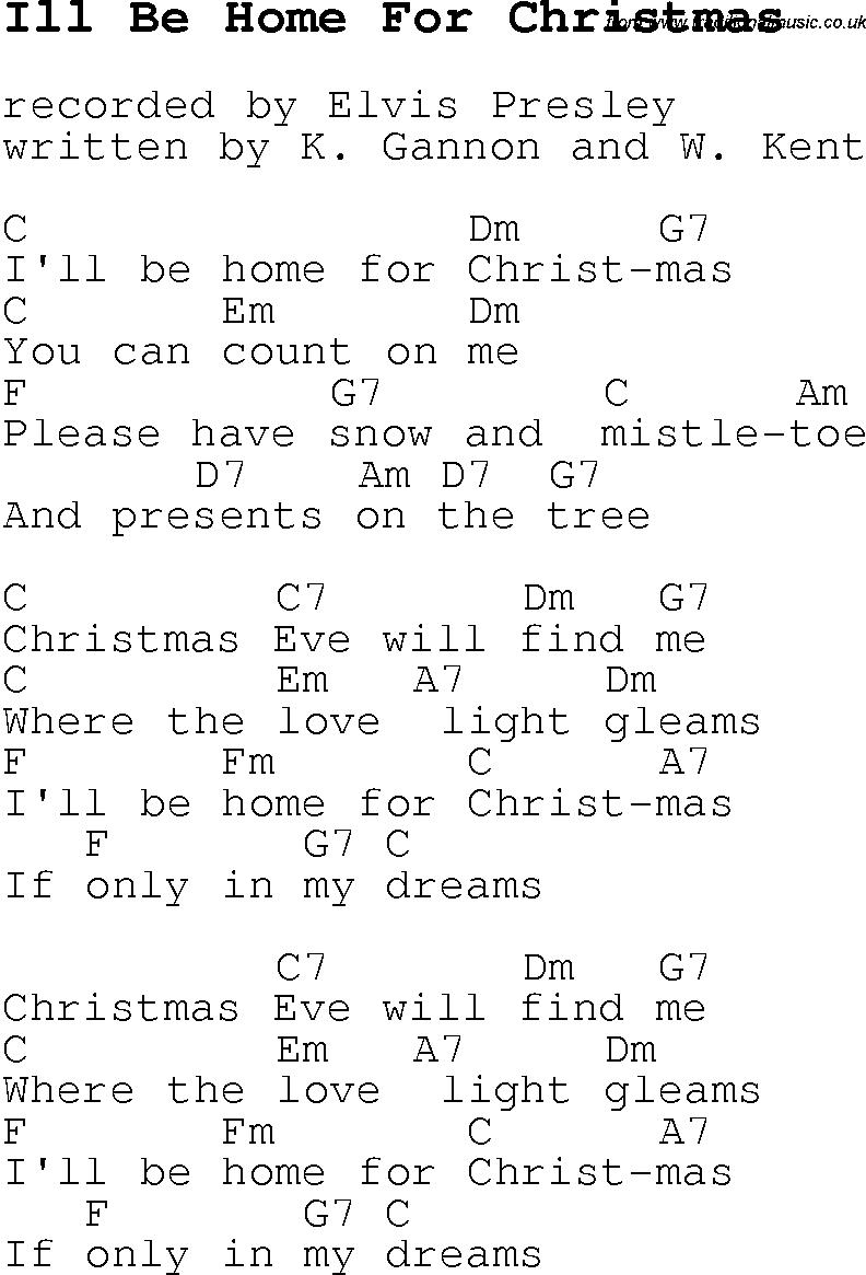 I Ll Be Home For Christmas Rascal Flatts Guitar Chords