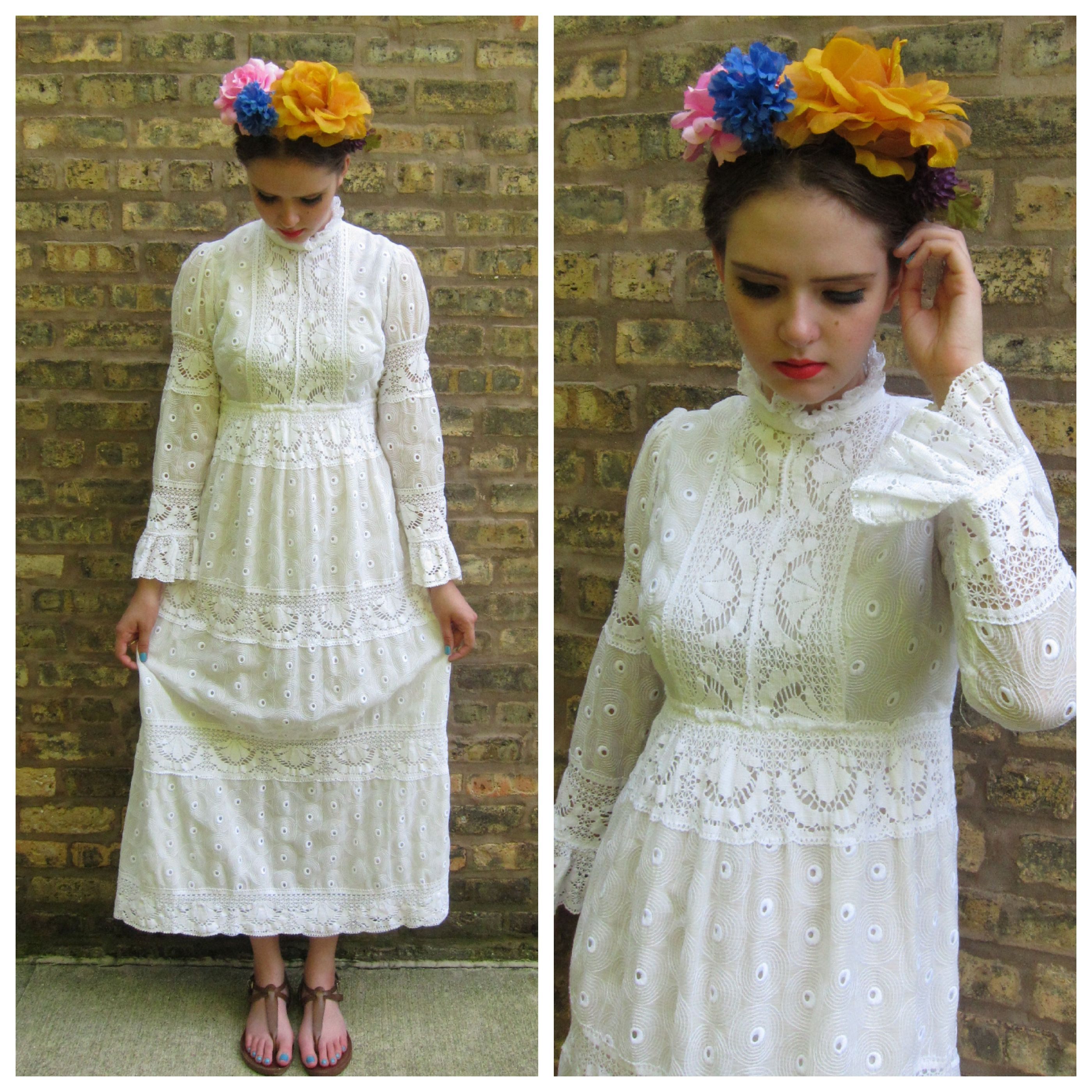 S dress s white maxi dress crochet lace and embroidered