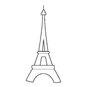 Eiffel Tower Outline Coloring Page