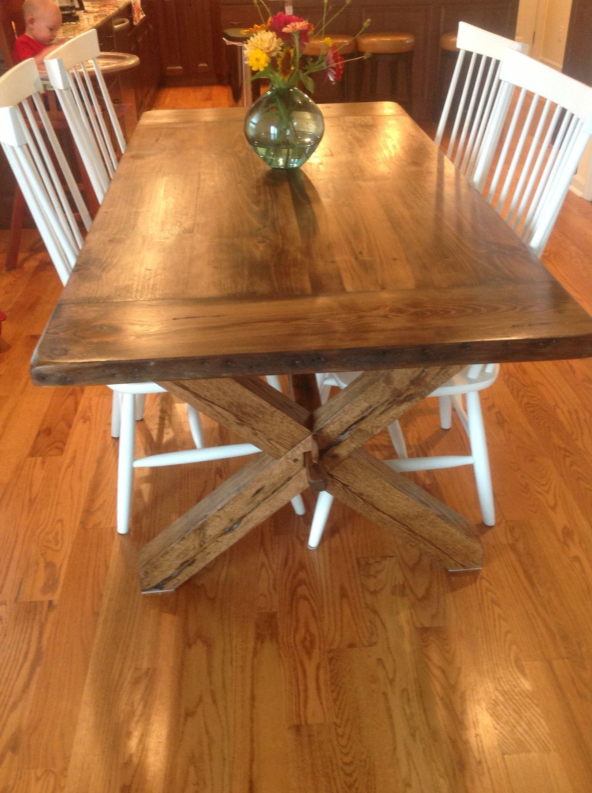 Cross leg trestle tables table plans table farmhouse table