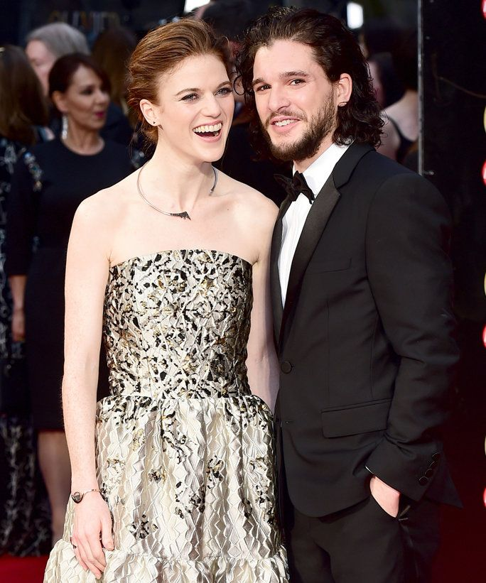 Kit Harington and Rose Leslie's Adorable Red Carpet Debut Is Everything